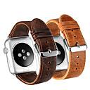 Χαμηλού Κόστους Βάσεις και κάτοχοι Smartwatch-Παρακολουθήστε Band για Apple Watch Series 5/4/3/2/1 Apple Δερμάτινη Πλέξη Γνήσιο δέρμα Λουράκι Καρπού