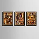 Χαμηλού Κόστους Εκτυπώσεις σε Κορνίζα-Καμβάς σε Κορνίζα Σετ σε Κορνίζα - Αφηρημένο Πλαστικό Εικόνα Wall Art