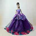 billiga Docktillbehör-Dollklänning Klänningar För Barbie Spets Violet t Tyll Spets Bomullsblandning Klänning För Flicka Dockleksak