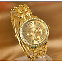 povoljno Modne naušnice-Žene Par je Sportski sat Diamond Watch Zlatni sat Japanski Kvarc Srebro / Zlatna / Rose Gold Casual sat Velika kazaljka Analog dame Ležerne prilike Moda - Zlato Pink Rose Gold