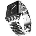 זול צמידי גברים-מתכת אל חלד צפו בנד רצועה ל Apple Watch Series 4/3/2/1 שחור / זהב 23cm / 9 אינץ ' 2.1cm / 0.83 אינצ'ים