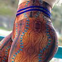 Χαμηλού Κόστους Ρούχα τρεξίματος-Γυναικεία Ψηλοκάβαλο Παντελόνι για γιόγκα Στάμπα Zumba Τρέξιμο Fitness Κολάν Παντελόνια Φούστες Ρούχα Γυμναστικής Αντίστροφη καρότσα Έλεγχος κοιλιάς Ισχυρή ελαστικότητα 4 Way Stretch / Πολύ στενό