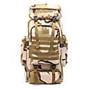 Χαμηλού Κόστους Σακίδια & Τσάντες-60 L Σακίδια Μεγάλο σακίδιο ώμου Στρατιωτικό τακτικό σακίδιο Αναπνεύσιμοι ιμάντες - Αναπνέει Αδιάβροχο Φορέστε Αντίσταση Υψηλή χωρητικότητα Εξωτερική Πεζοπορία Στρατιωτικό Ταξίδια Οξφόρδη / Ναι