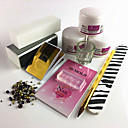 baratos Kits & Conjuntos para Unhas-Kit de Acrílico Para Unha de Dedo Durável arte de unha Manicure e pedicure Simples Diário