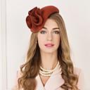 ราคาถูก เครื่องประดับผมสำหรับงานปาร์ตี้-100% ขนแกะ Kentucky Derby Hat / หมวก กับ ดอกไม้ 1pc ที่มา / สวมใส่ทุกวัน หูฟัง