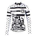 ราคาถูก วิกผมลูกไม้สังเคราะห์ระดับพรีเมียม-ILPALADINO สำหรับผู้หญิง แขนยาว Cycling Jersey สีดำ / สีขาว ลายจุด ขนาดพิเศษ จักรยาน เสื้อยืด Tops ขี่จักรยานปีนเขา Road Cycling ระบายอากาศ แห้งเร็ว Ultraviolet Resistant กีฬา 100 / แถบสะท้อนแสง