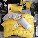 baratos Edredons em Cores Sólidas-conjuntos de capa de edredão poli / algodão reativa impressão contemporânea 4 conjuntos de cama / 300 / 4pcs (1 capa de edredão, 1 folha plana, 2 fronhas) rei