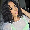 billiga Äkta peruker med hätta-Remy-hår Hel-spets Spetsfront Peruk Asymmetrisk frisyr Rihanna stil Brasilianskt hår Vattenvågor Svart Peruk 130% 150% 180% Hårtäthet med babyhår Dam Enkel på- och avklädning Sexig Lady Naturlig Dam