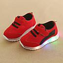 billige LED Sko-Gutt / Jente LED / Komfort / Lysende sko Netting Treningssko Toddler (9m-4ys) / Små barn (4-7år) Hekte / LED Grønn / Rød / Blå Høst vinter
