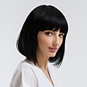Χαμηλού Κόστους Εξτένσιος μαλλιών με φυσικό χρώμα-Ανθρώπινη Τρίχα Περούκα Ίσιο Κούρεμα καρέ Σύντομα Hairstyles 2019 Μαύρο Φυσική γραμμή των μαλλιών Χωρίς κάλυμμα Γυναικεία Μαύρο Ξανθό Μεσαία Auburn 12 Ίντσες Καθημερινά Ρούχα