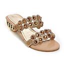 ราคาถูก รองเท้าแตะผู้หญิง-สำหรับผู้หญิง รองเท้าแตะ ส้นต่ำ Synthetics ฤดูร้อน สีทอง / ฟ้า