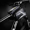 ราคาถูก เสื้อปั่นจักรยาน-กระเป๋าใส่ที่สำหรับมือจับ สัมผัสหน้าจอ ซิปกันน้ำ แถบสะท้อนแสง Bike Bag หนัง PU TPU Bicycle Bag Cycle Bag ปั่นจักรยาน จักรยาน