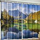 olcso 3D függönyök-Modern 3D függönyök Két panel Függöny / Sötétítő / Hálószoba