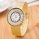 billiga Modearmband-Dam Armbandsur Diamond Watch Quartz Silver / Guld Vardaglig klocka Ramtyp damer Mode minimalist - Silver Guld