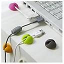 billige Stativer og holdere-4 stk multifunksjonskabel wire arrangør klips ryddig usb lader snor holder for desktop kabel fast klemme tilfeldig