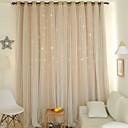 billiga Gardiner och draperier-Moderna gardiner draperier Två paneler Gardin / Mörkläggning / Sovrum