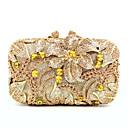 Χαμηλού Κόστους Τσαντάκια & Βραδινές Τσάντες-Γυναικεία Κρυστάλλινη λεπτομέρεια / Με Τρύπες PU / Κράμα Βραδινή τσάντα Κρύσταλλο Βραδινά Τσάντες Κρυστάλλινα Συμπαγές Χρώμα Χρυσό / Φθινόπωρο & Χειμώνας