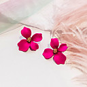 billiga Modehalsband-Dam Dubb Örhängen Retro Blomma damer Europeisk Ljuv Mode Elegant För vardagsbruk örhängen Smycken Ros / Grön / Rosa Till Party Dagligen en Pair