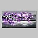 baratos Pinturas Abstratas-Pintura a Óleo Pintados à mão - Paisagem Floral / Botânico Modern Sem armação interna / Lona Laminada