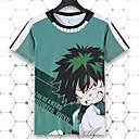 voordelige Cosplay voor dagelijks gebruik-My Hero Academy Battle For All / Boku No Hero Academia Midoriya Izuku T-Shirt Poly / Katoen Voor Unisex