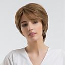 cheap Human Hair Wigs-Human Hair Capless Wigs Human Hair Natural Wave Pixie Cut / Short Hairstyles 2019 Halle Berry Hairstyles Natural Hairline Brown Capless Wig Women's Daily Wear