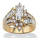ราคาถูก แหวน-สำหรับผู้หญิง แหวน Cubic Zirconia 1pc สีทอง สีเงิน เรซิน ทองแดง พลอยเทียม รอบ ผิดปกติ สุภาพสตรี Stylish ความหรูหรา งานแต่งงาน ปาร์ตี้ เครื่องประดับ หลายเลเยอร์ สไตล์ ภรรยาขุนนางมาร์ควิซ มงกุฎ