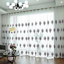 ราคาถูก ม่านปรับแสง-ที่ทันสมัย เฉดสีผ้าม่านเชียร์ สองช่อง Sheer / Bedroom