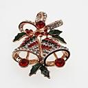 povoljno Religijski nakit-Žene Broševi Klasičan Zvono dame Jednostavan Klasik Umjetno drago kamenje Broš Jewelry Zlato Pink Za Božić