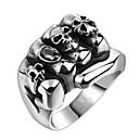 povoljno Muško prstenje-Muškarci Band Ring Prsten Izjave 1pc Crn Titanium Steel Geometric Shape Vintage Punk Dnevno Ulica Jewelry Vintage Style 3D Graviranog Kreativan Cool