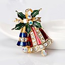 povoljno Religijski nakit-Žene Broševi Klasičan Zvono dame Jednostavan Osnovni Umjetno drago kamenje Broš Jewelry Zlato Za Božić