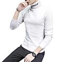 ราคาถูก รองเท้าผ้าใบผู้ชาย-สำหรับผู้ชาย ทุกวัน / สุดสัปดาห์ ลายตัวอักษร แขนยาว เพรียวบาง ปกติ ผ้าคลุมหลัง เสื้อกันหนาวจัมเปอร์, คอเต่า ตก / ฤดูหนาว สีดำ / ขาว / ทับทิม M / L / XL