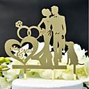 ราคาถูก ของตกแต่งหน้าเค้ก-อุปกรณ์แต่งหน้าเค้ก ธีมคลาสสิก / การแต่งงาน ตัดออก อคริลิค / โพลีเอสเตอร์ งานแต่งงาน / วันครบรอบ กับ อคริลิค 1 pcs PVC Bag
