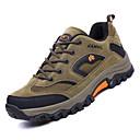 ราคาถูก รองเท้ากีฬาสำหรับผู้ชาย-สำหรับผู้ชาย รองเท้าสบาย ๆ ตารางไขว้ / PU ตก Sporty รองเท้ากีฬา เดินป่า ไม่ลื่นไถล ลายบล็อคสี สีเทา / สีน้ำตาล / อาร์มี่ กรีน