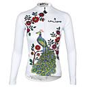 ราคาถูก เสื้อปั่นจักรยาน-ILPALADINO สำหรับผู้หญิง แขนยาว Cycling Jersey ขาว สีม่วง สีแดงชมพู Peacock ขนาดพิเศษ จักรยาน เสื้อยืด Tops ขี่จักรยานปีนเขา Road Cycling ระบายอากาศ แห้งเร็ว Ultraviolet Resistant กีฬา 100