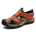 ราคาถูก รองเท้าแตะผู้ชาย-สำหรับผู้ชาย รองเท้าสบาย ๆ แน๊บป้า Leather ฤดูร้อนฤดูใบไม้ผลิ / ฤดูใบไม้ร่วง & ฤดูหนาว รองเท้าแตะ สีน้ำตาลอ่อน / น้ำตาลเข้ม / สีกากี