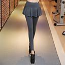 Χαμηλού Κόστους Αξεσουάρ Χορού-Γυναικεία Peplum Παντελόνι για γιόγκα Συμπαγές Χρώμα Spandex Zumba Τρέξιμο Χορού Κολάν Ρούχα Γυμναστικής Αναπνέει Ύγρανση Συμπίεση Ανόρθωση Υψηλή Ελαστικότητα Λεπτό