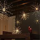 Χαμηλού Κόστους LED Φωτολωρίδες-zdm αδιάβροχο 60 κλαδιά120 λουρίδων που λειτουργούν με μπαταρία κρέμονται φώτα starburst