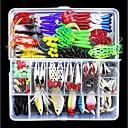 billiga Fiskbeten och flugor-141 pcs Fiskbete Hårt bete Mjukt bete Lätt att använda Flytande Bass Forell Gädda Sjöfiske Flugfiske Kastfiske Blandat Material / Isfiske / Spinnfiske / Jiggfiske / Färskvatten Fiske / Karpfiske