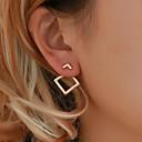 Χαμηλού Κόστους Μοδάτα Σκουλαρίκια-Γυναικεία Κουμπωτά Σκουλαρίκια Σκουλαρίκια στυλ μπρος και πίσω Κοίλο Δημιουργικό Φτηνός κυρίες Απλός Κορεάτικα χαριτωμένο στυλ Κομψό Καθημερινό Σκουλαρίκια Κοσμήματα Χρυσό / Ασημί Για / 1 Pair