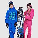 povoljno Skijaška i snowboard odjeća-Phibee Dječaci Djevojčice Skijaško odijelo Vodootporno Ugrijati Vjetronepropusnost Skijanje Vježbanje na otvorenom Freestyle daska za snowboard Poliester Pamuk Zimska jakna Tople hlače Skijaška odjeća