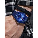 ราคาถูก นาฬิกากีฬา-สำหรับผู้ชาย นาฬิกาแนวสปอร์ต สายการบิน นาฬิกาอิเล็กทรอนิกส์ (Quartz) ดำ / ฟ้า / เขียว โครโนกราฟ นาฬิกาใส่ลำลอง เท่ห์ ระบบอนาล็อก วินเทจ แฟชั่น - สีดำ สีเขียว ฟ้า หนึ่งปี อายุการใช้งานแบตเตอรี่