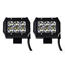 Χαμηλού Κόστους Προβολείς Εργασίας-KAWELL 2pcs Σύνδεση καλωδίων Αυτοκίνητο Λάμπες 18 W SMD LED 1260 lm 6 LED Φως Εργασίας Για Universal Όλα τα μοντέλα 2018