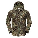 ราคาถูก เสื้อผ้าจากสัตว์-สำหรับผู้ชาย ทหารเสื้อแจ๊คเก็ตยุทธวิธี Hiking Fleece Jacket อำพราง กลางแจ้ง ฤดูใบไม้ร่วง ฤดูใบไม้ผลิ กันลม ทน UV ระบายอากาศ หนา แจ็คเก็ตฤดูหนาว ผ้าขนแกะ Single Slider