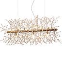baratos Design Circular-Lustres de sala de jantar galvanizado fogo de artifício luz led de aço inoxidável ilha de cristal pingente de iluminação com 9 luzes g9 lâmpada base