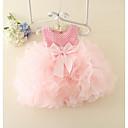Χαμηλού Κόστους Παιδικά Αξεσουάρ Κεφαλής-Μωρό Κοριτσίστικα Βασικό Μονόχρωμο Αμάνικο Βαμβάκι Φόρεμα Ανθισμένο Ροζ / Νήπιο