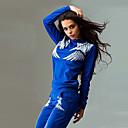 Χαμηλού Κόστους Ρούχα τρεξίματος-Γυναικεία Streetwear Βαμβάκι Tricou de Alergat cu Pantaloni 2pcs Χειμώνας Στρογγυλή Ψηλή Λαιμόκοψη Fitness Γυμναστήριο προπόνηση Προπόνηση ΑΘΛΗΤΙΚΑ ΡΟΥΧΑ Άνθινο / Βοτανικό Αναπνέει Φόρμα Ρούχα σύνολα
