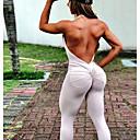 povoljno Odjeća za fitness, trčanje i jogu-Žene Visoki struk Open Back Kombinezon Kombinezon za vježbanje Jedna barva Zumba Yoga Fitness Kombinezon Bez rukávů Odjeća za rekreaciju Butt Lift Rastezljivo Slim