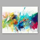 voordelige Abstracte schilderijen-Hang-geschilderd olieverfschilderij Handgeschilderde - Abstract Modern Inclusief Inner Frame / Uitgerekt canvas