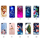 cheap iPhone Cases-Case For Apple iPhone X / iPhone 8 Plus / iPhone 8 Pattern Back Cover Christmas Soft TPU