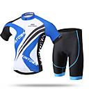 ราคาถูก ชุดเซทปั่นจักรยาน-XINTOWN สำหรับผู้ชาย แขนสั้น Cycling Jersey with Shorts แดง สีเขียว สีชมพู จักรยาน กางเกงขาสั้น เสื้อยืด ชุดออกกำลังกาย ระบายอากาศ 3D Pad แห้งเร็ว Ultraviolet Resistant Sweat-wicking กีฬา ไลคร่า